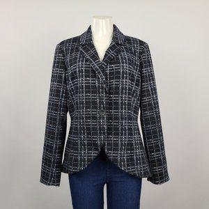 G by Giuliana Navy Plaid Blazer Size L